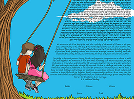 The Lovely Swing Ketubah