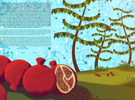 The Pomegranate and Sky Ketubah
