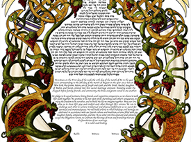 Through The Grapevine Ketubah
