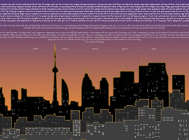The Toronto Skyline Ketubah