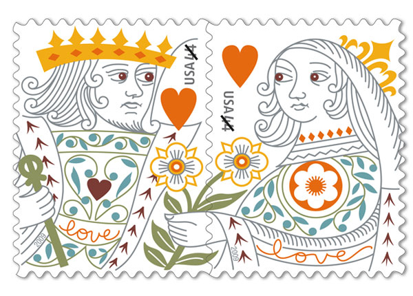 King and Queen Stamps