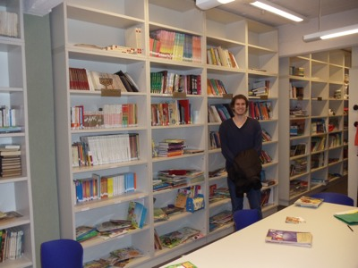 Brad in the Library