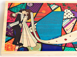 The Wood Ketubah (Bright Kiss)